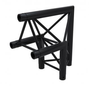 F33PLB Angle 2D 50cm Apex Up ( 3 connecteurs inclus ) BLACK