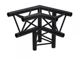 F33PLB Angle 3D 50cm Apex Down Right (6 connecteurs inclus) BLACK
