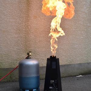 Canon flamme bouteille de gaz