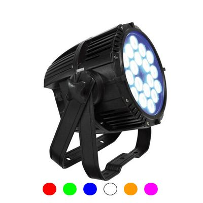Projecteur a led parled 18w rgbawuv